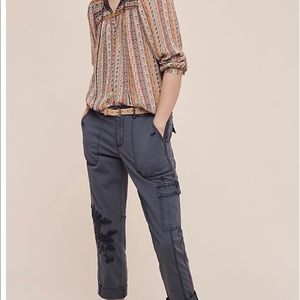 Anthropology Hei Hei embroidered Cargo Pants